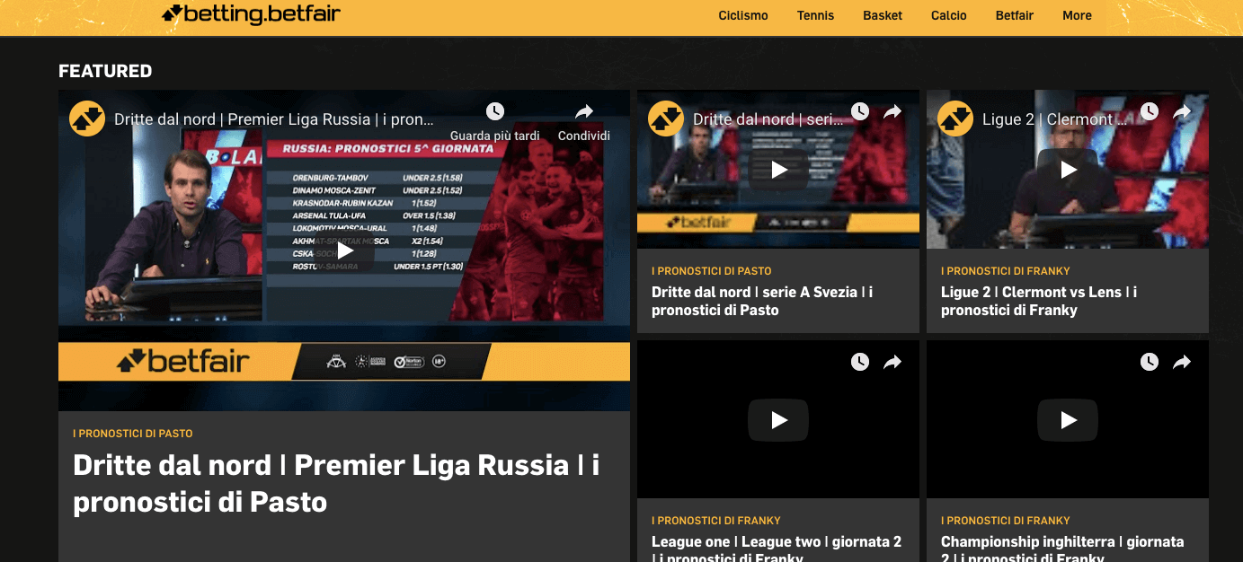 betfair tv