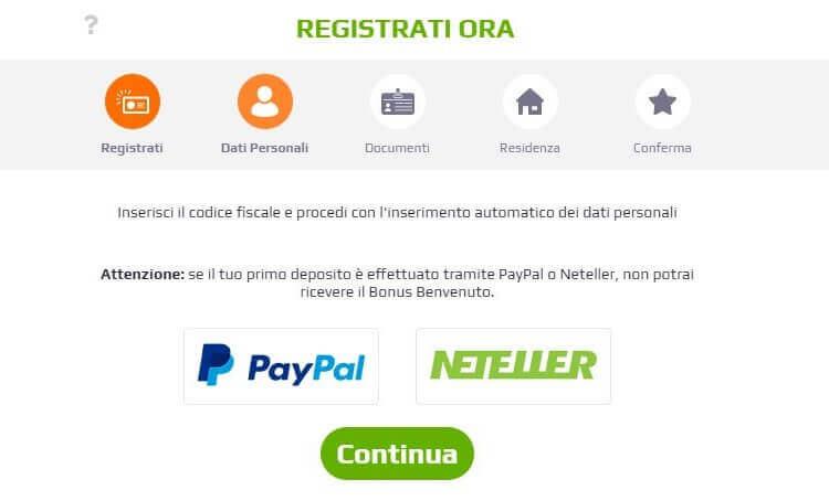 registrazione netbet