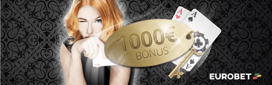 eurobet bonus 1000 euro sul poker