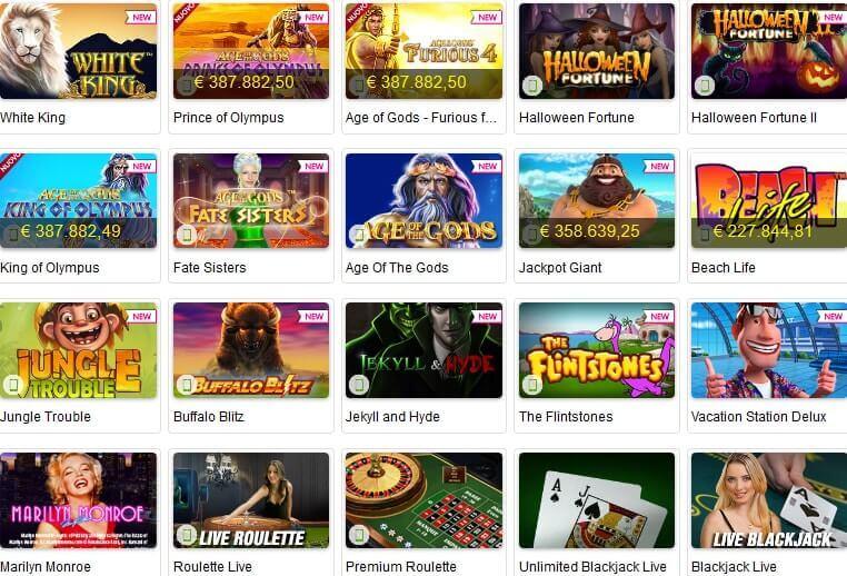 lista giochi titanbet