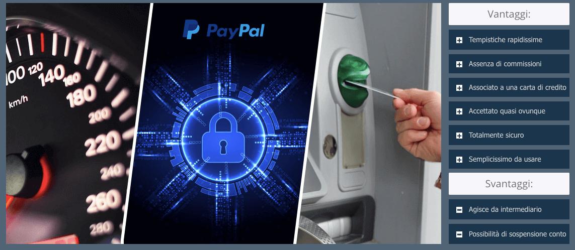 Quali sono i Pro e i Contro per depositare e prelevare su paypal?