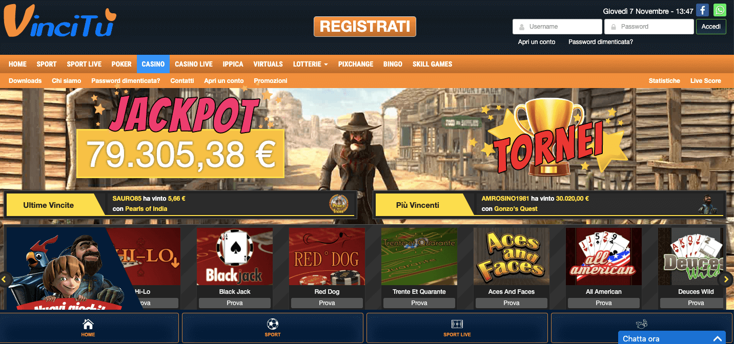 VinciTu Casinò Screenshot