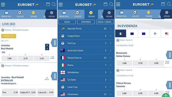 Download Applicazione Eurobet scommesse