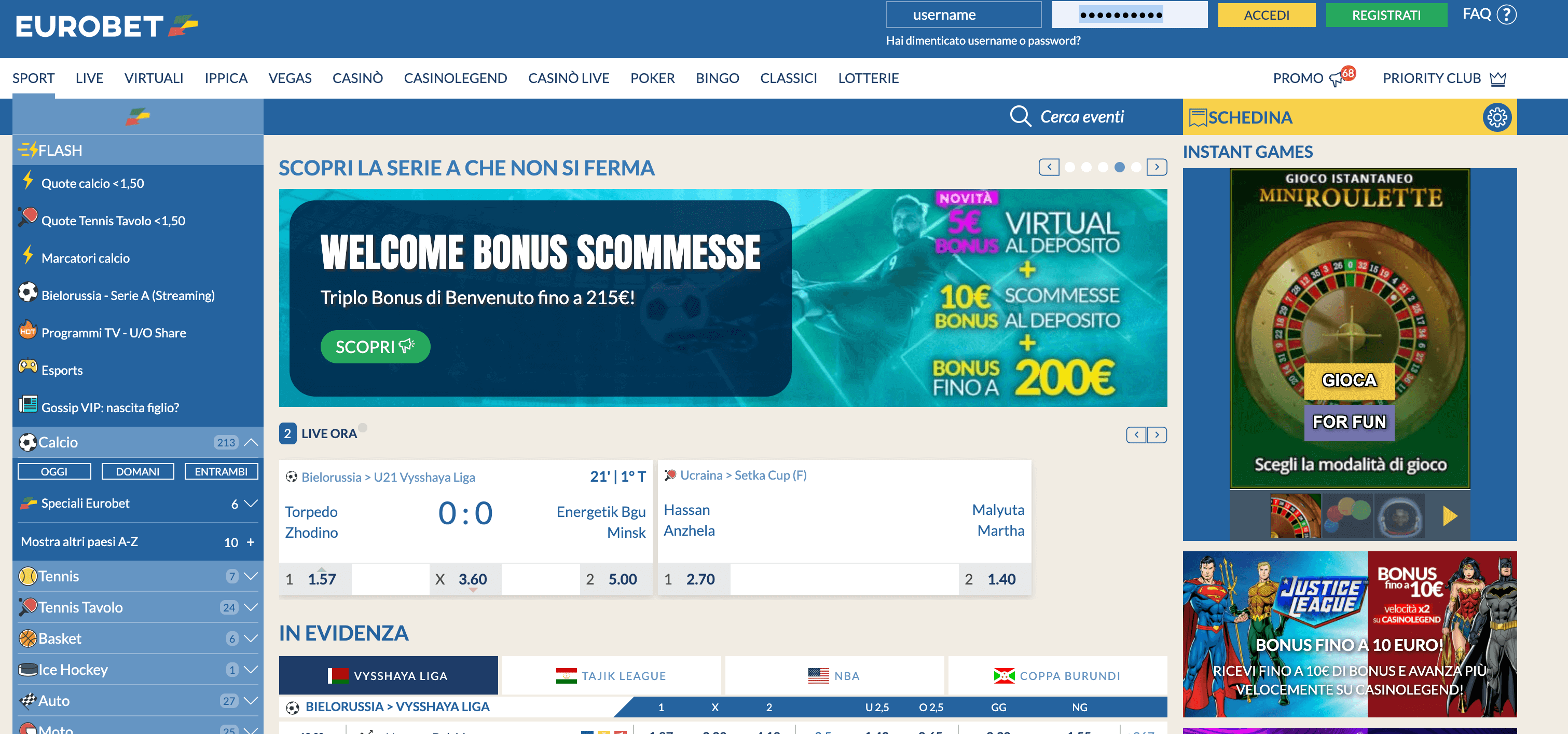 Eurobet Screenshot