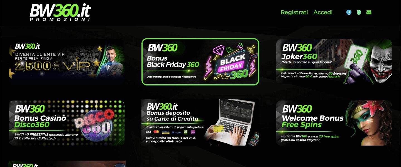 Bw360 Betwin360 bonus e promozioni