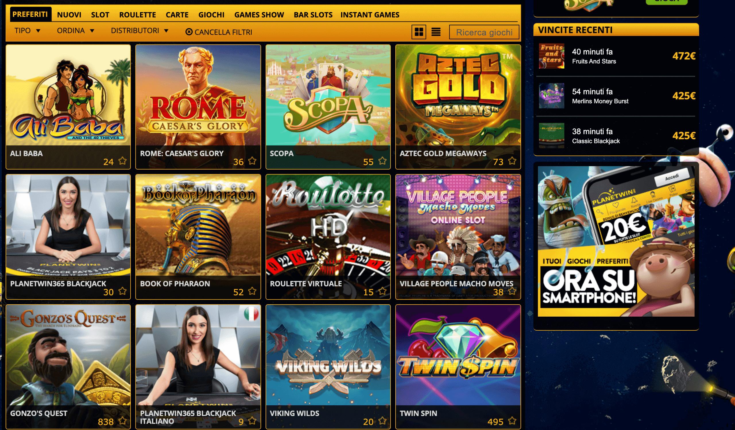 Planetwin365 Slot giochi