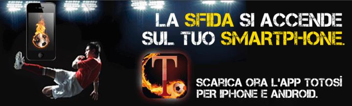 TotoSì app mobile