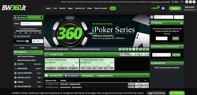 BW360 Poker Screenshot