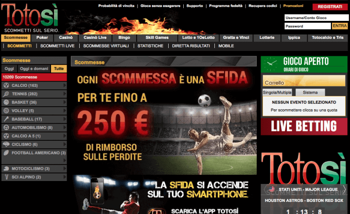 TotoSì Screenshot