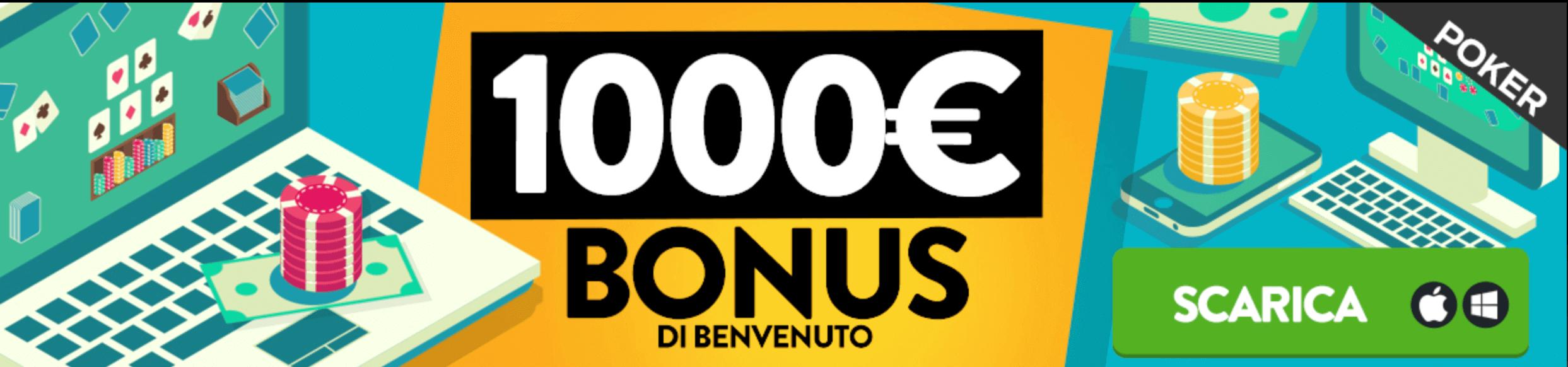 planetwin365 poker bonus benvenuto