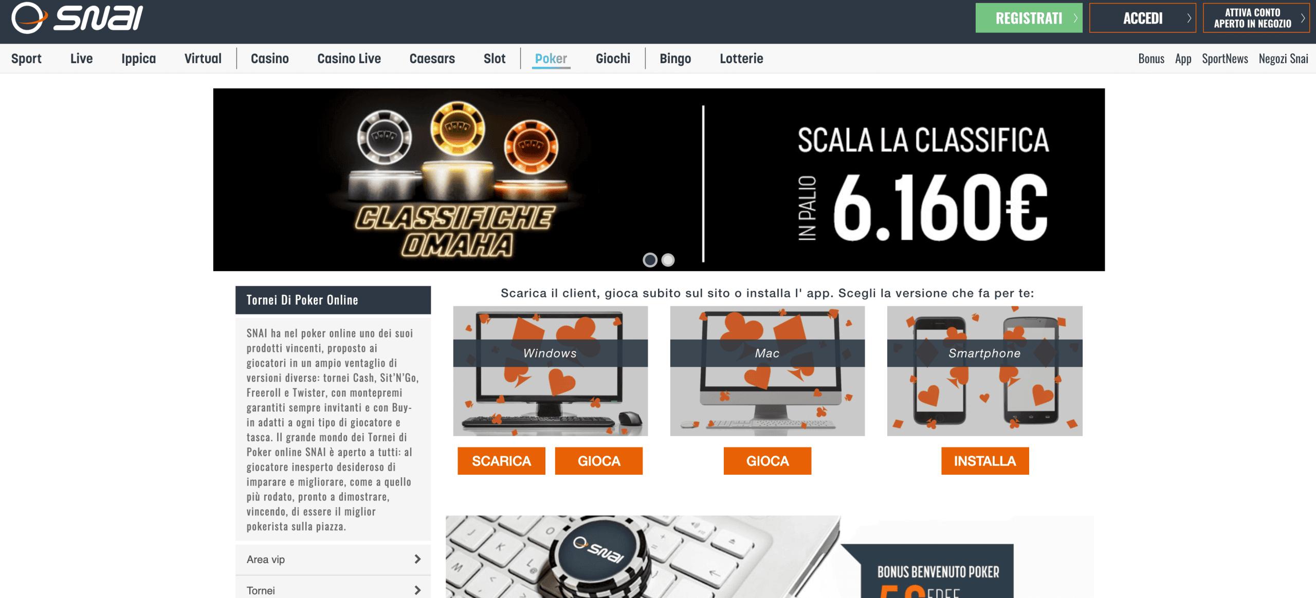 Snai Poker Screenshot
