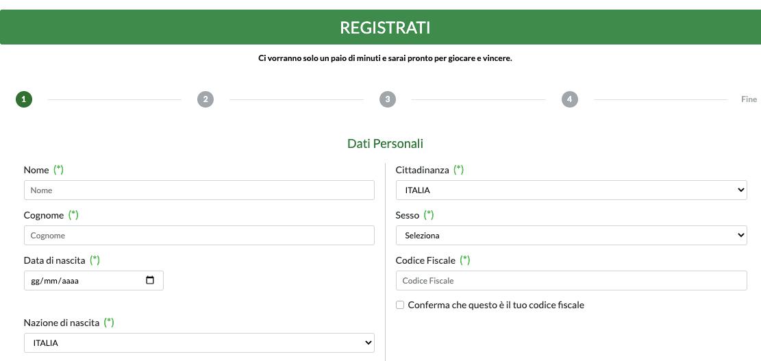 Betaland registrati