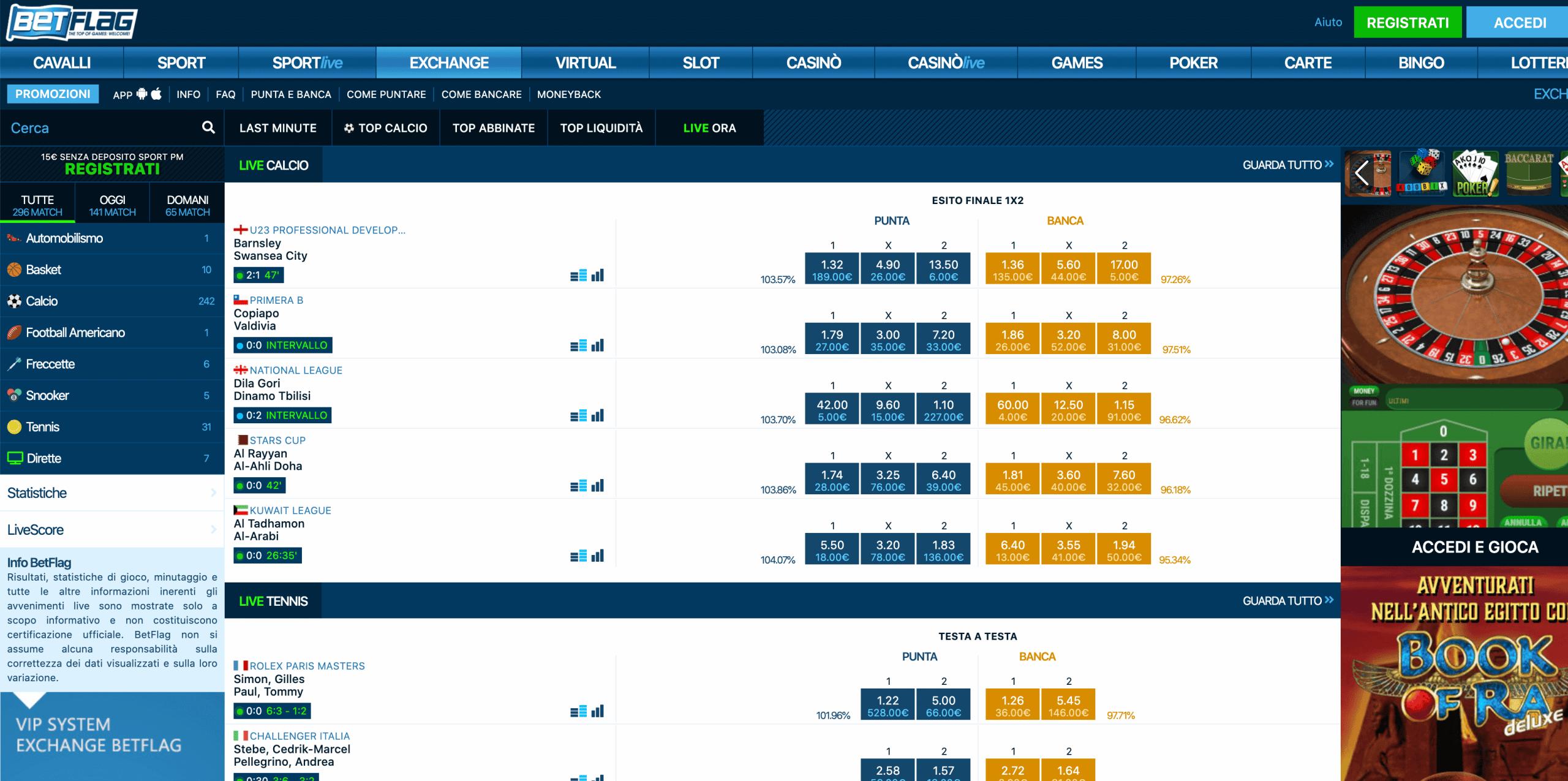 betflag betting exchange