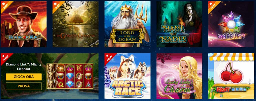 Le Slot machine Admiral da giocare Gratis