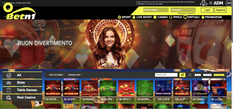 Betn1 Casino Screenshot