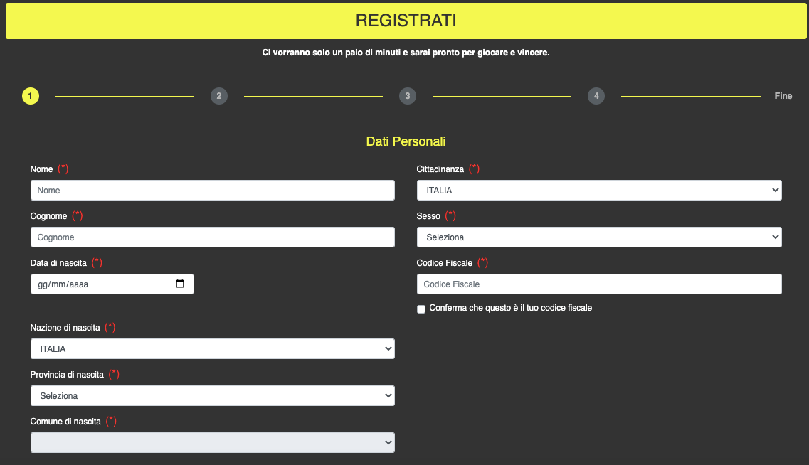 Betn1 Registrazione