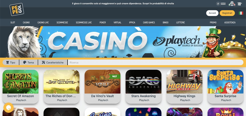 Pepegol Casino Screenshot