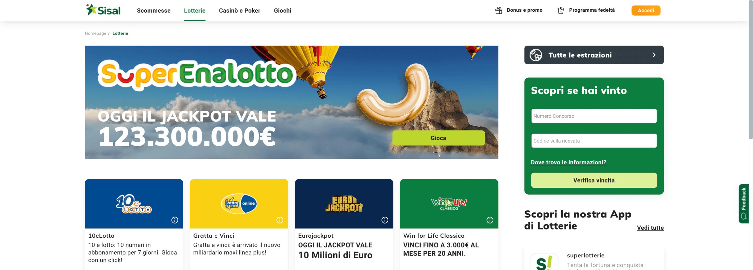 Sisal Lotterie