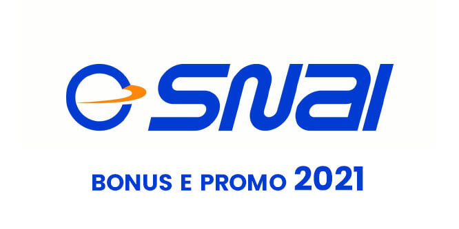 bonus e promo snai 2021