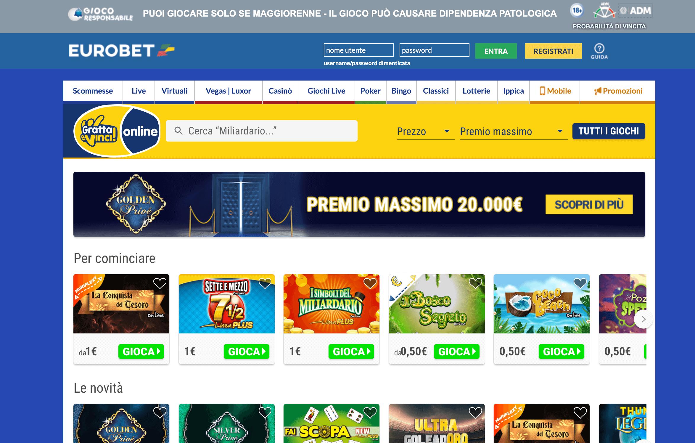 eurobet lotterie