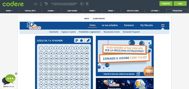 Codere Casino Lotterie