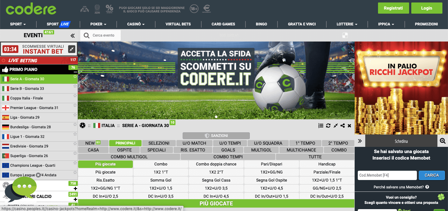 Codere Home