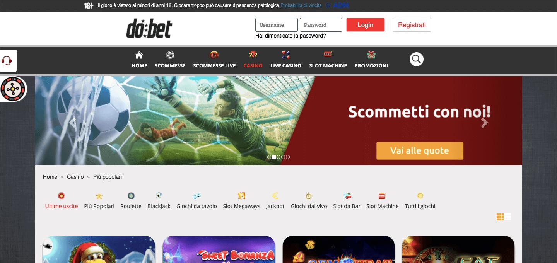 Dobet Casino Screenshot