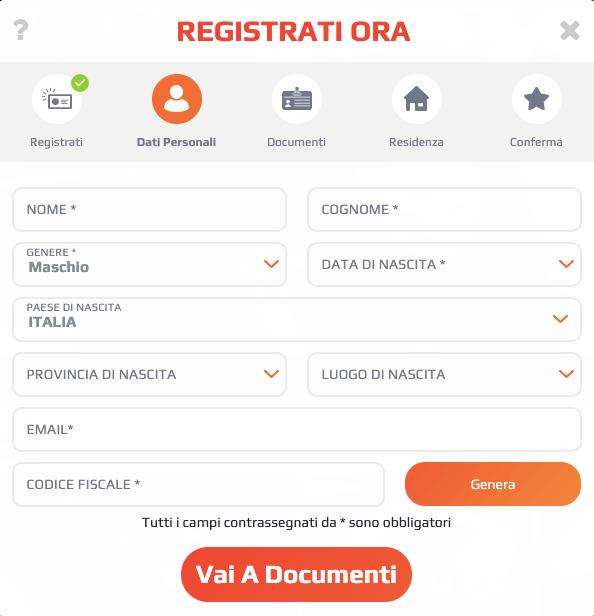 NetBet Casino Registrazione