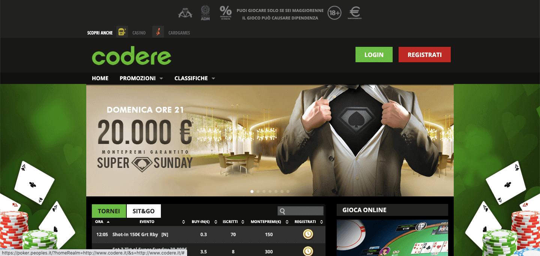 Codere Poker Screenshot